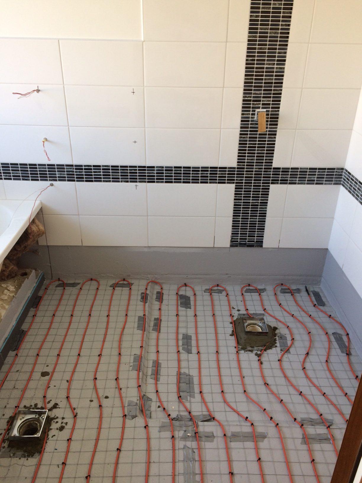 Underfloor heating in the bathroom