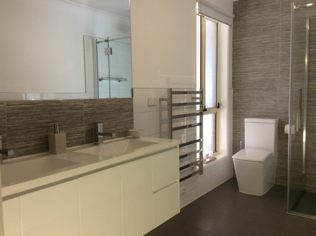 Completed bathroom renovation