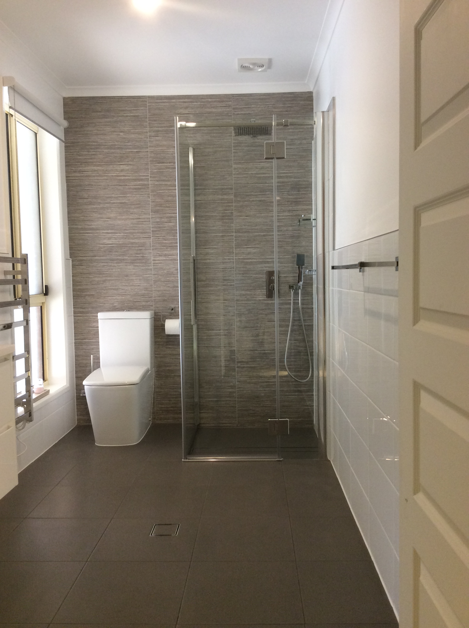 Completed bathroom renovation